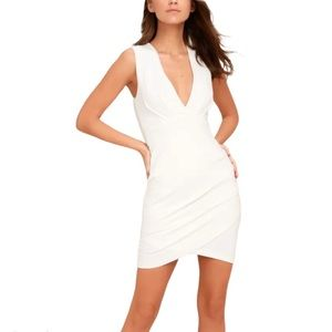 """🆕 Lulu's White """"Cocktail Hour"""" Dress - Size Small"""